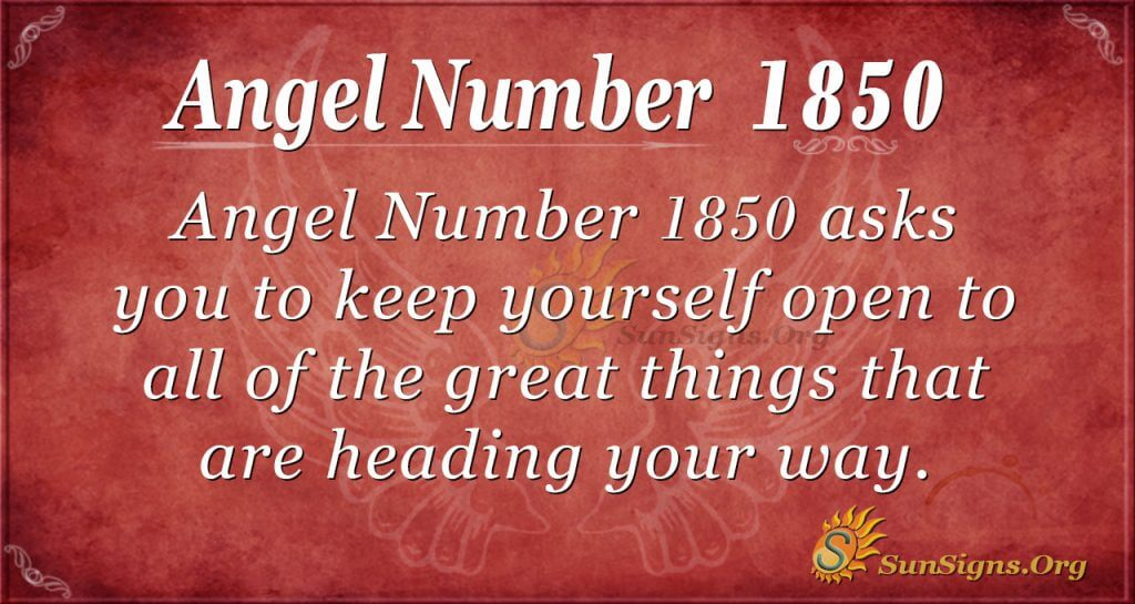 Angel Number 1850