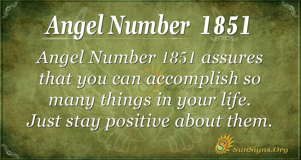 Angel number 1851