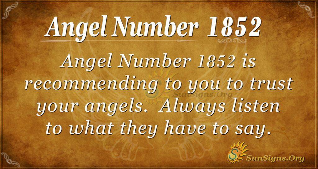 Angel number1852