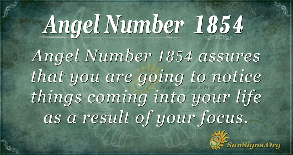 Angel Number 1854