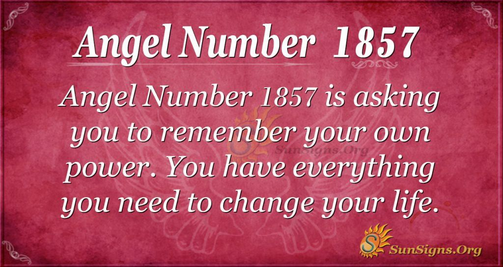 Angel Number 1857