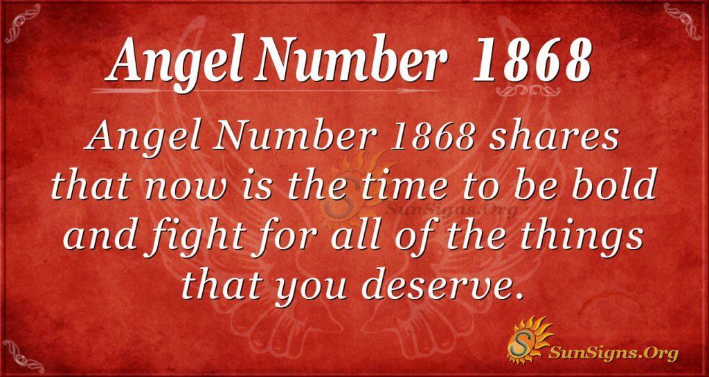 Angel Number 1868