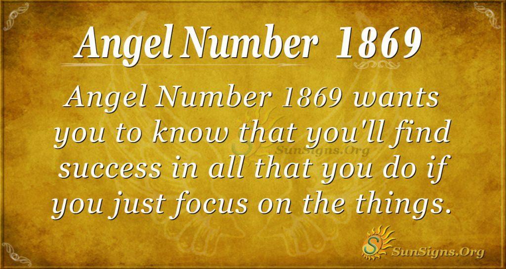 Angel Number 1869