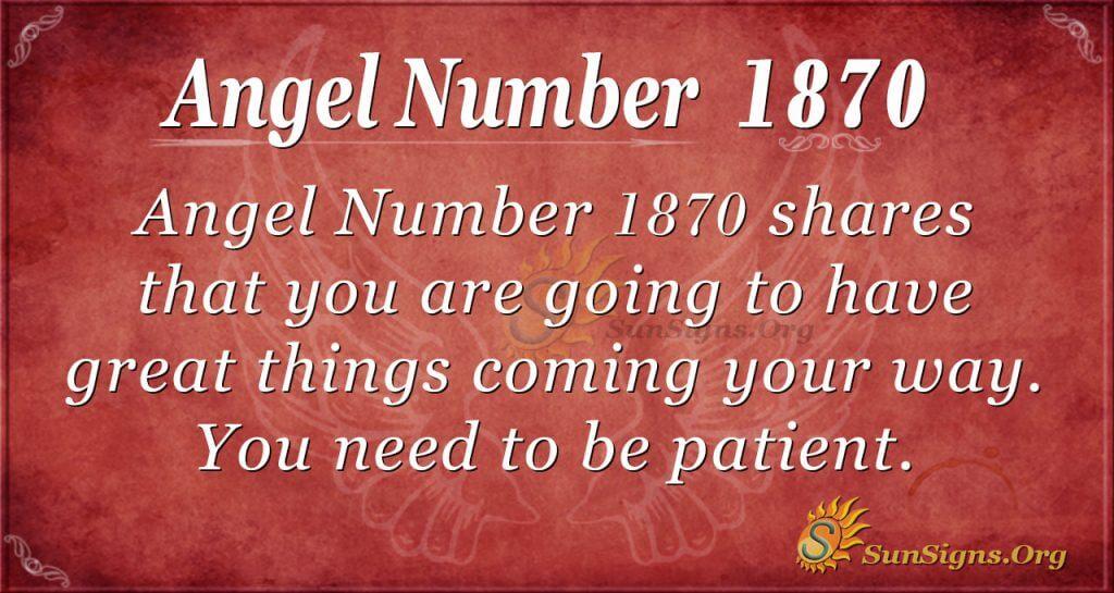 Angel Number 1870