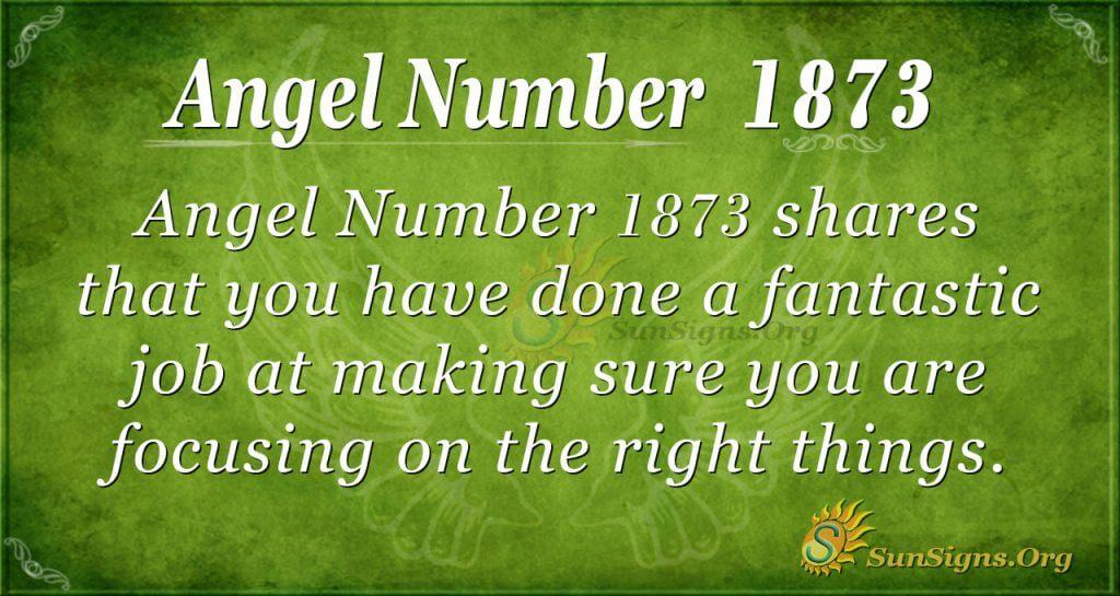 Angel Number 1873