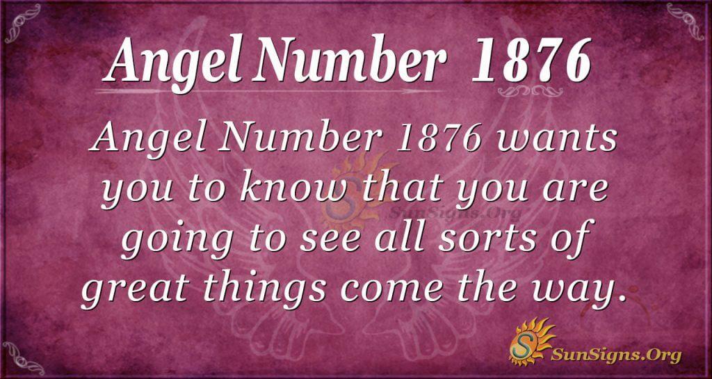 Angel Number 1876