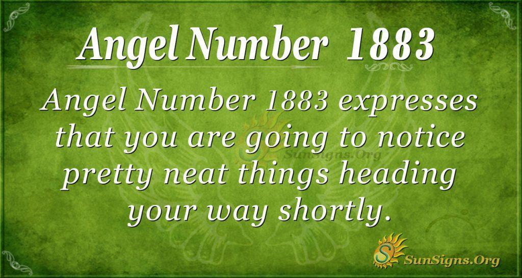 Angel number 1883