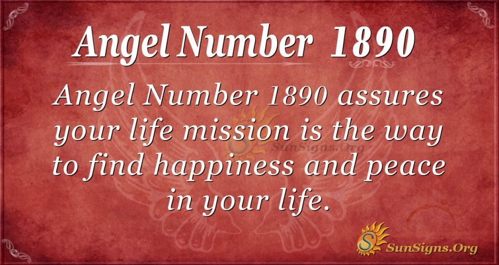 Angel Number 1890