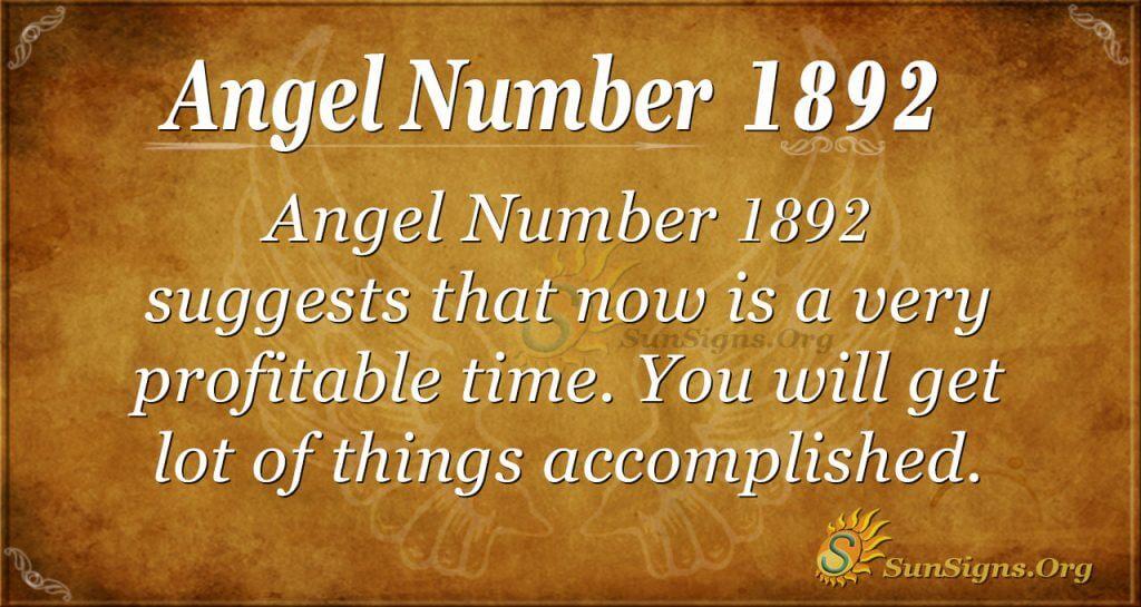 Angel Number 1892