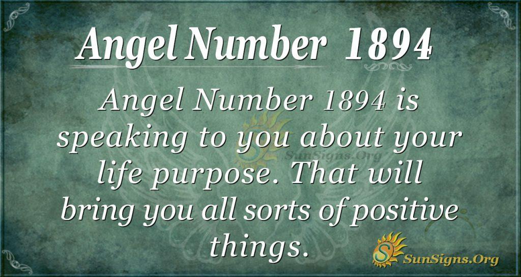 Angel Number 1894
