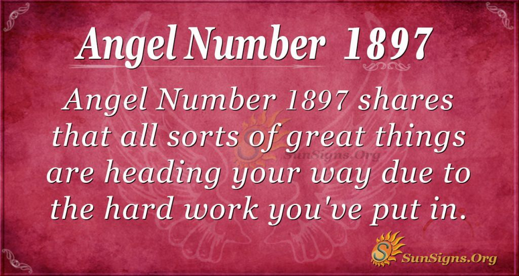 Angel Number 1897