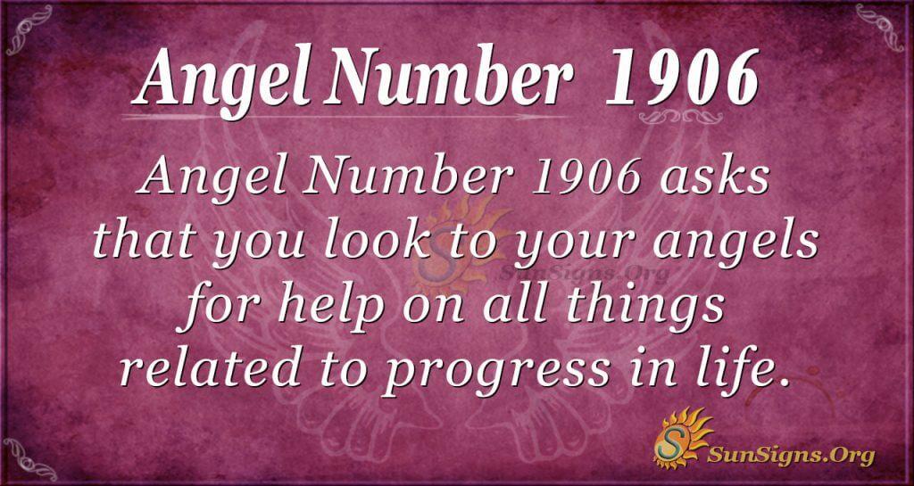 Angel Number 1906