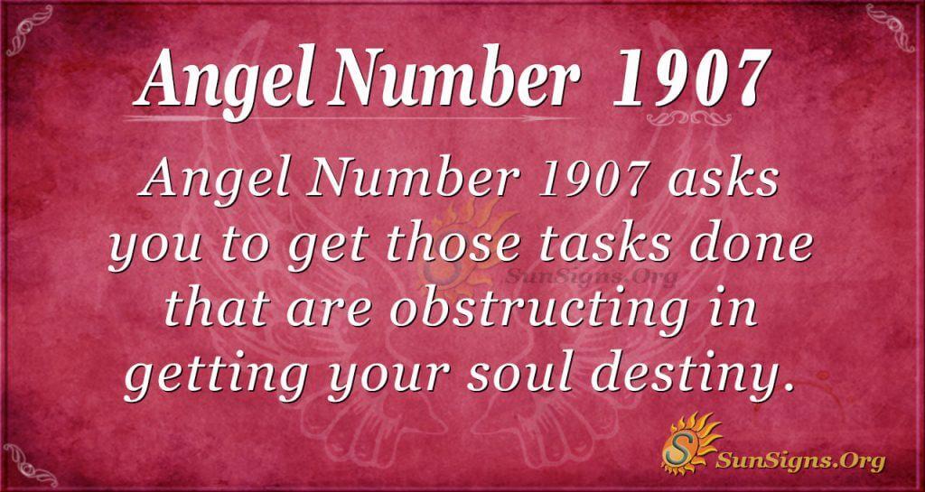 Angel Number 1907