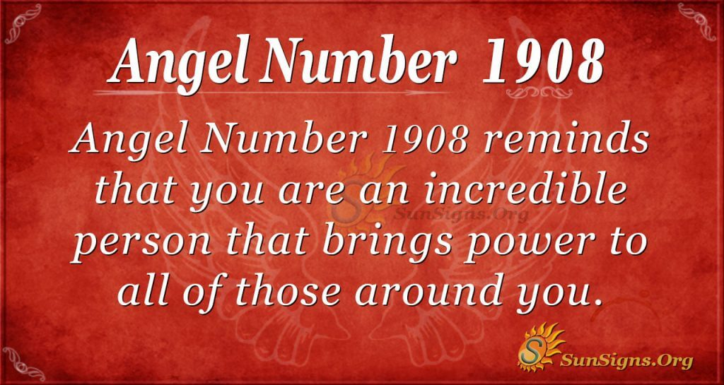 Angel Number 1908