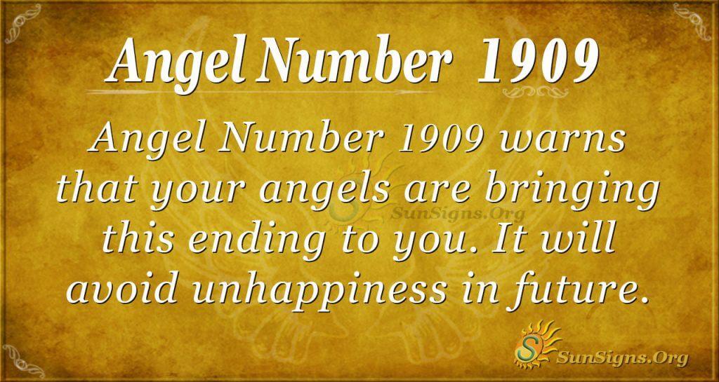 Angel Number 1909