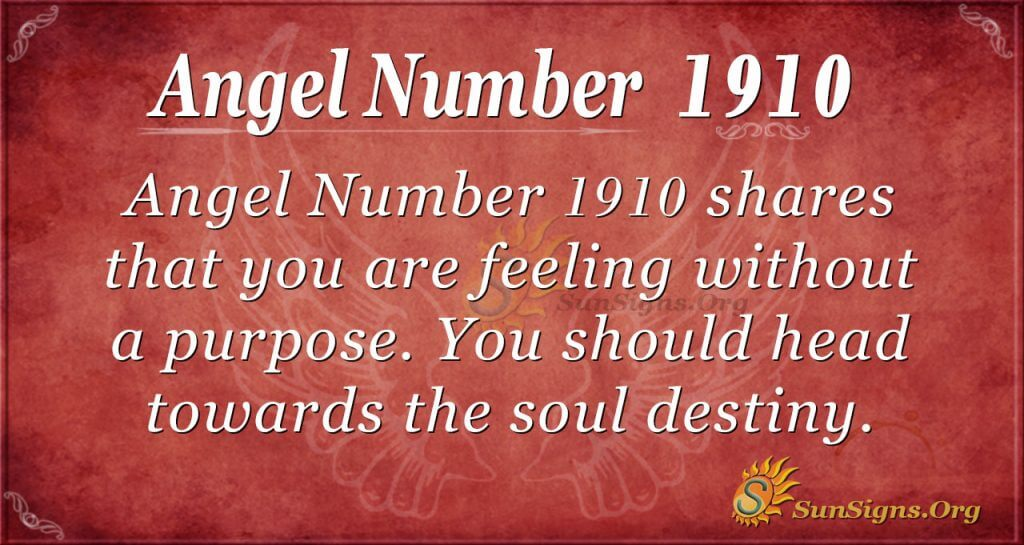 Angel Number 1910