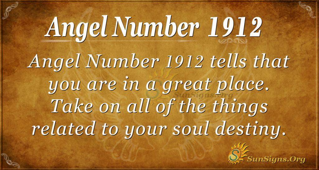 Angel Number 1912