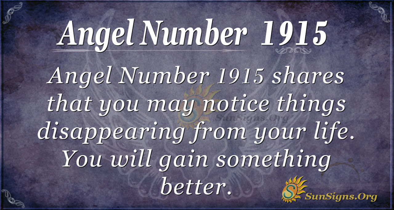Angel Number 1915 Meaning: Set yourself Up - SunSigns.Org