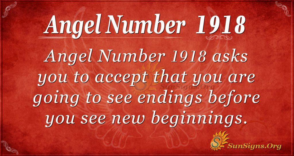 Angel Number 1918