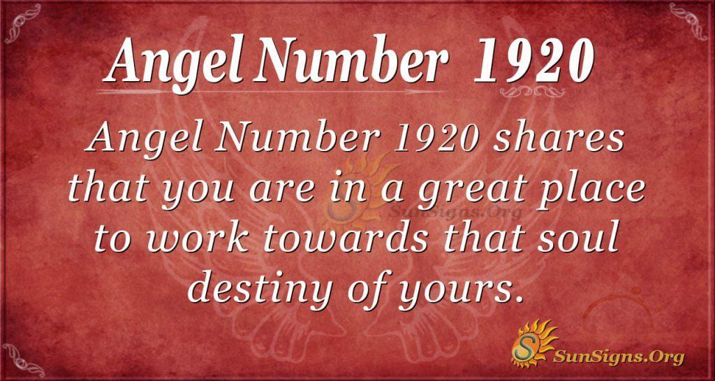 Angel Number 1920
