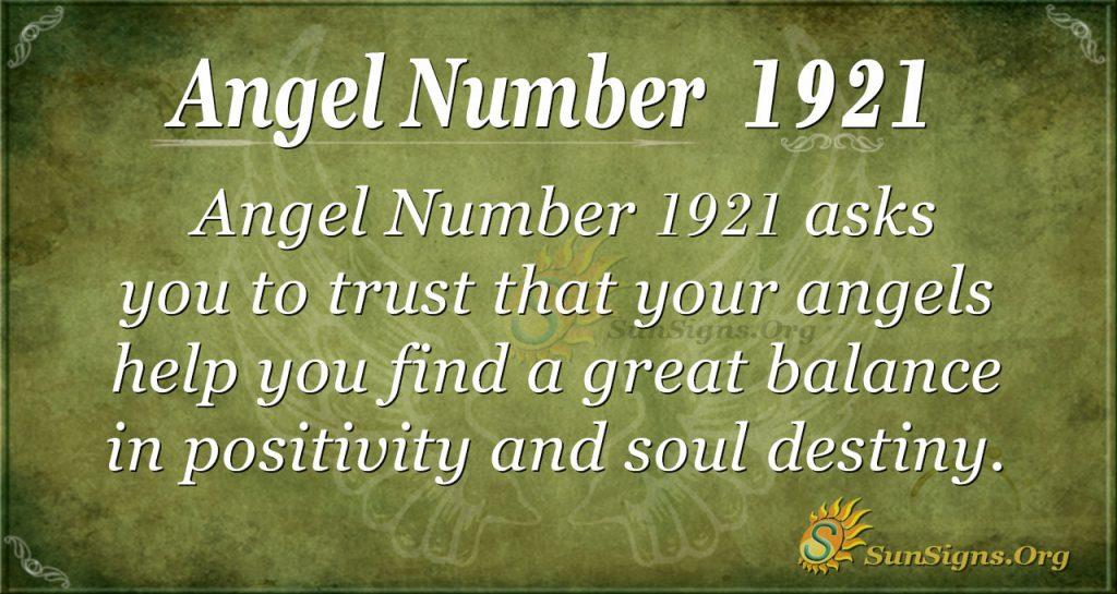 Angel Number 1921