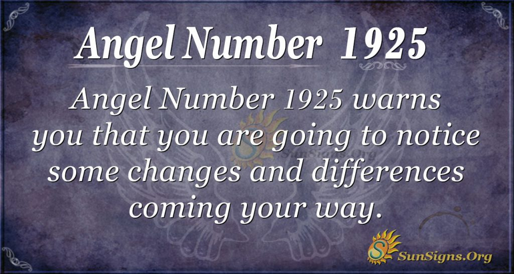 Angel Number 1925
