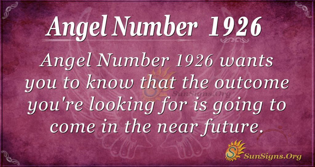 Angel Number 1926