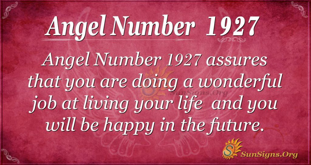 Angel Number 1927