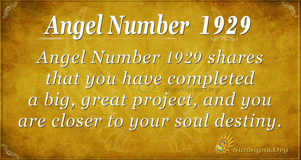 Angel Number 1929