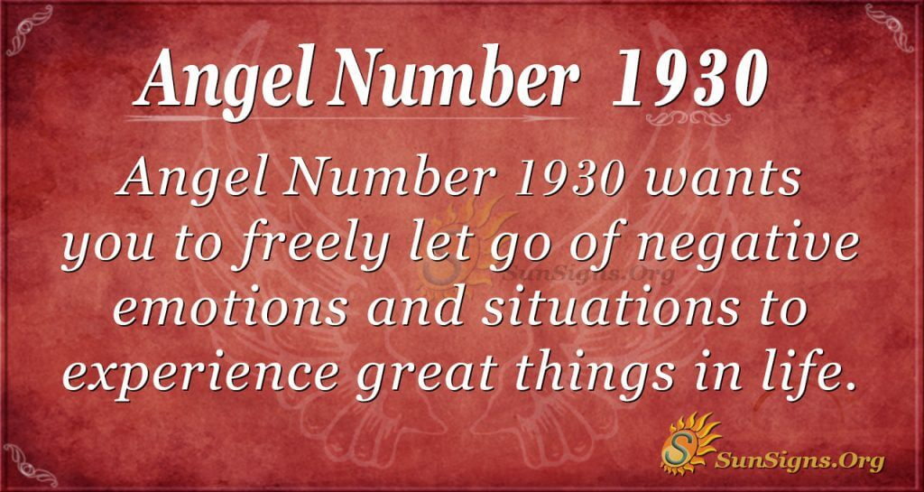 Angel Number 1930