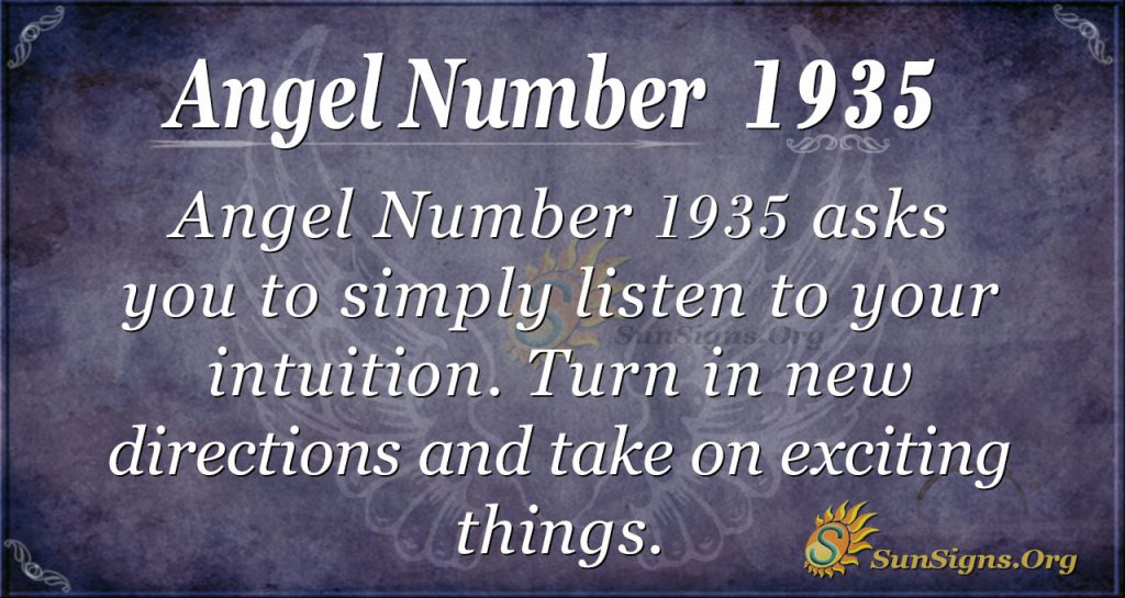 Angel Number 1935