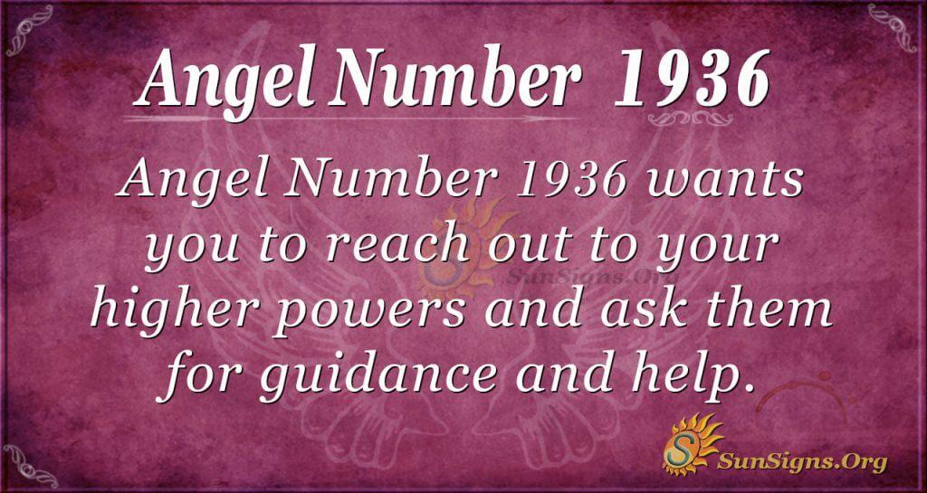 Angel Number 1936