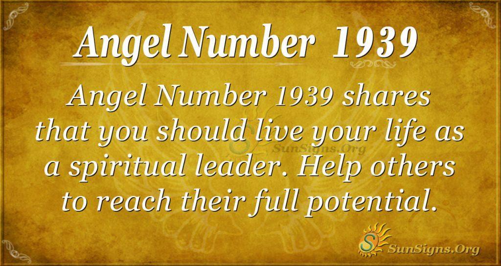 Angel Number 1939