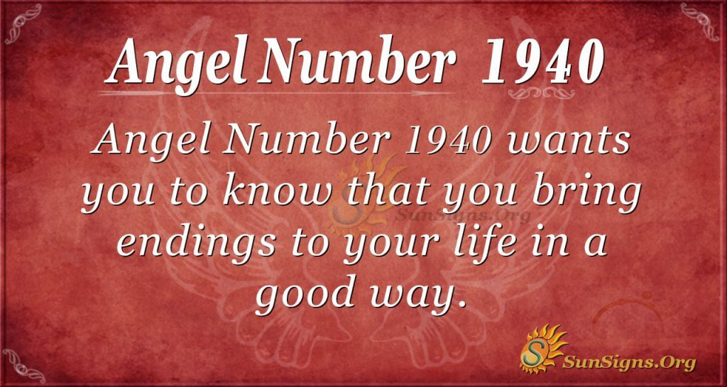 Angel Number 1940