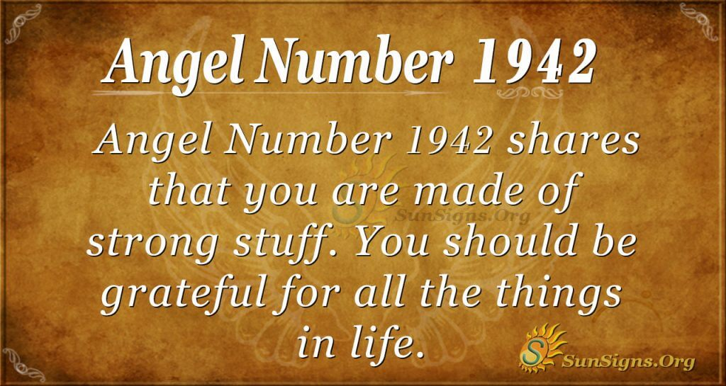 Angel Number 1942