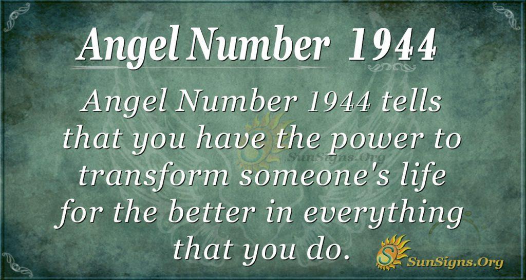Angel Number 1944