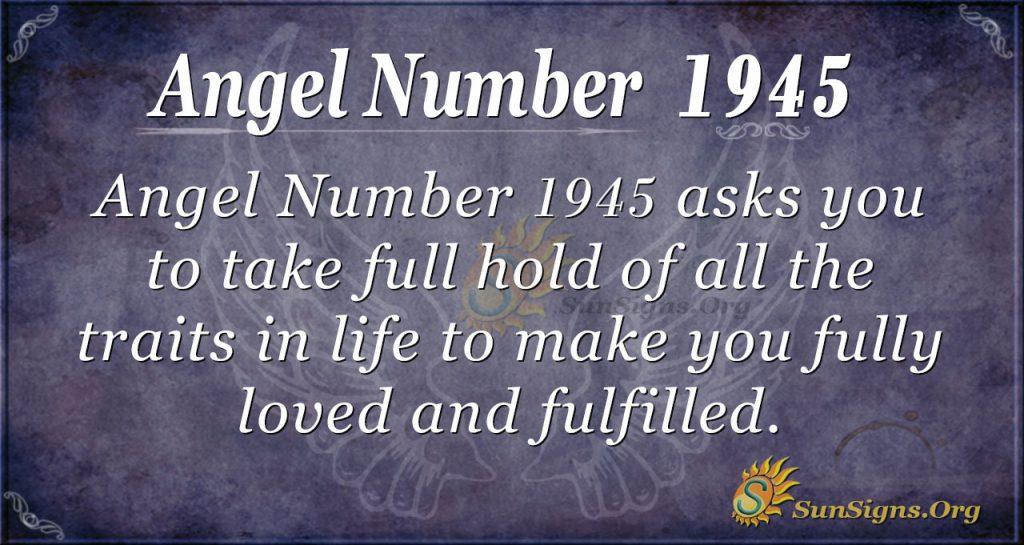 Angel Number 1945