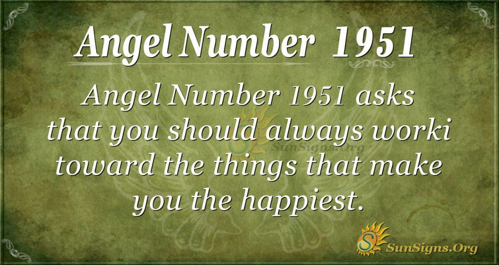 Angel Number 1951