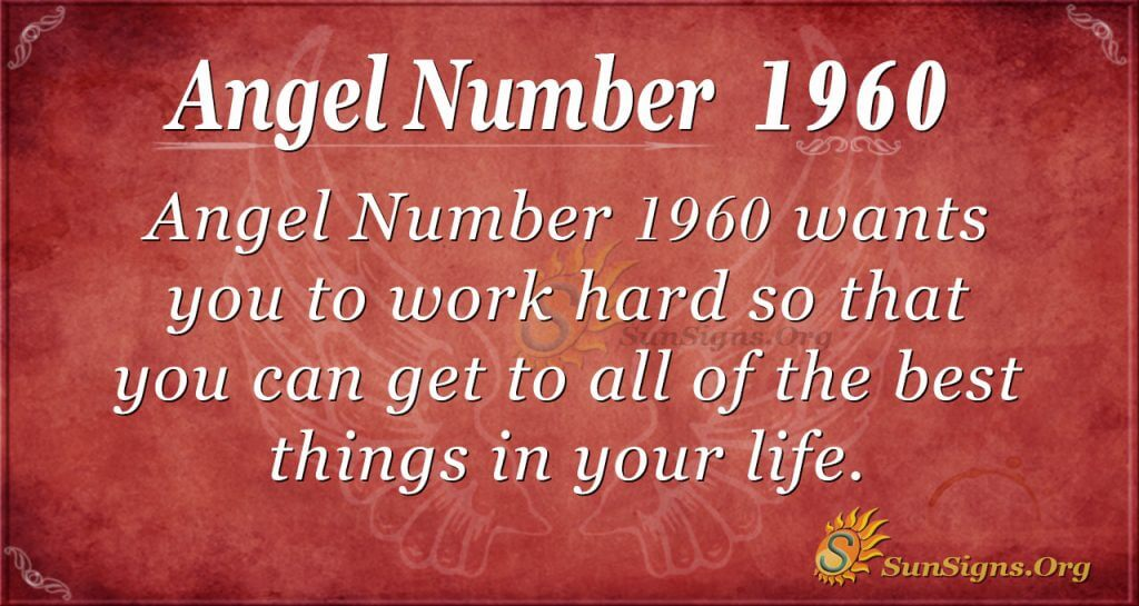 Angel Number 1960