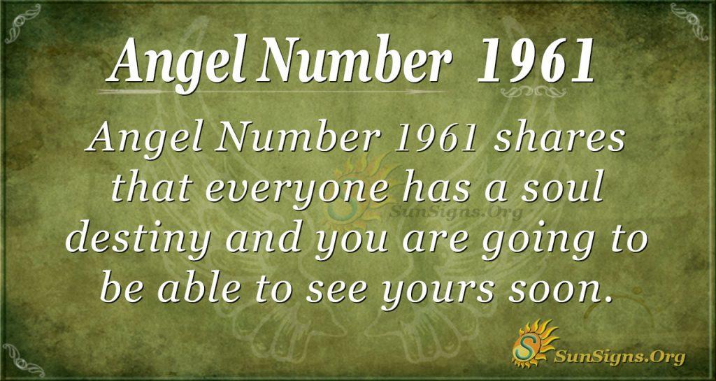 Angel Number 1961