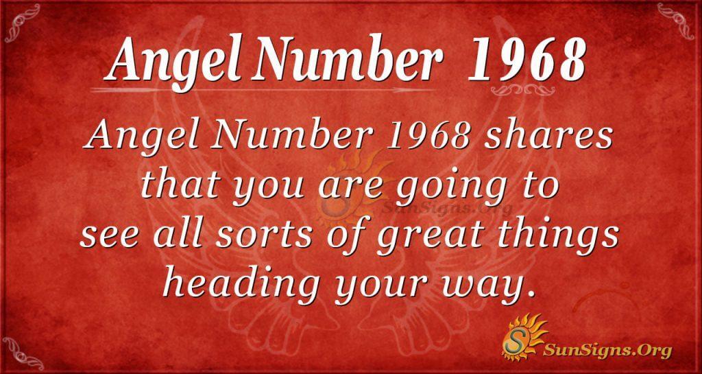 Angel Number 1968
