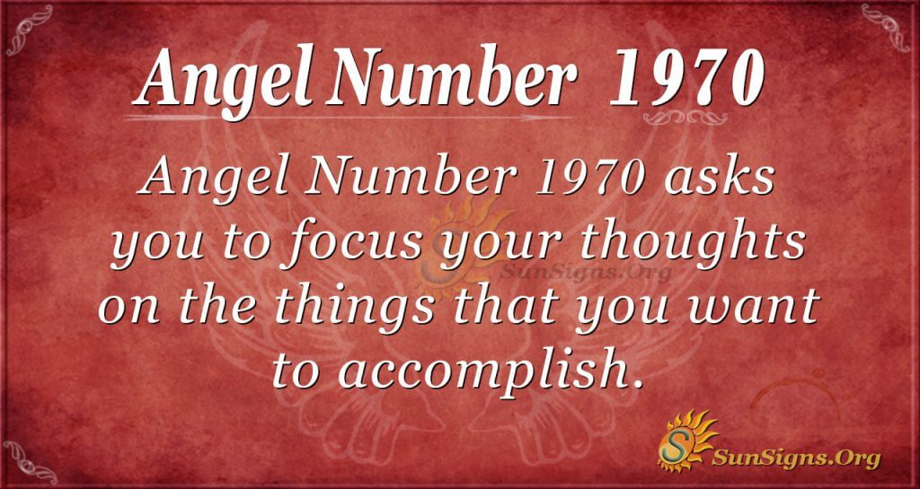 Angel Number 1970