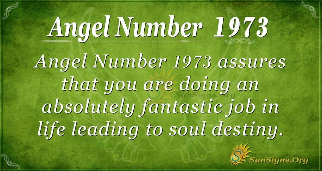 Angel Number 1973