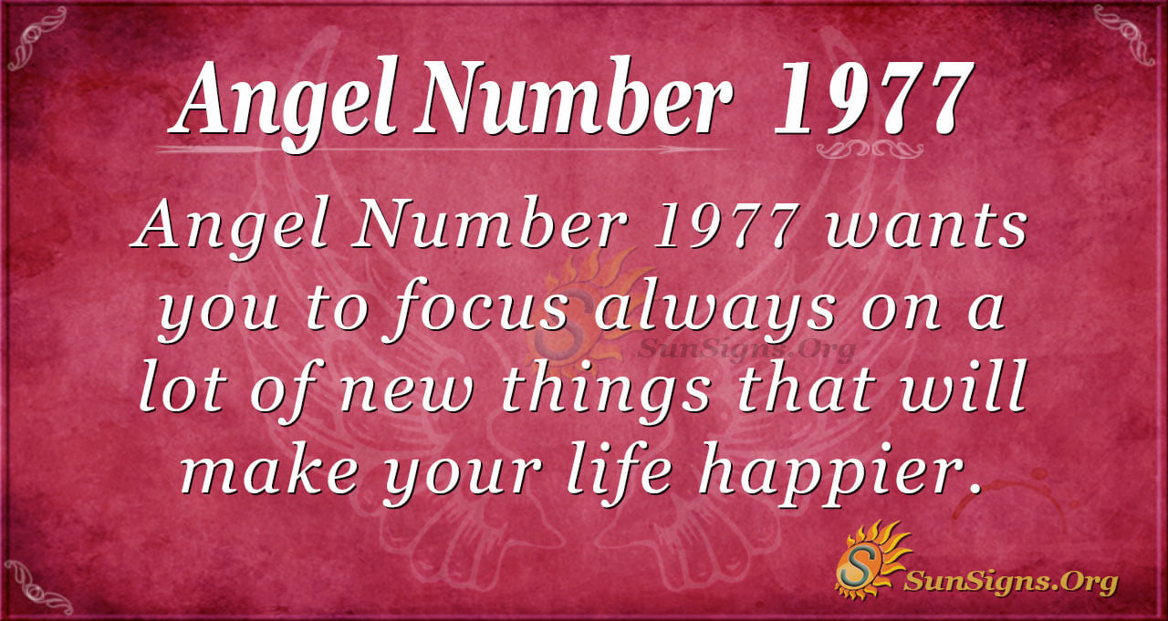 Angel Number 1977 Meaning: Strive To Be Happy - SunSigns.Org