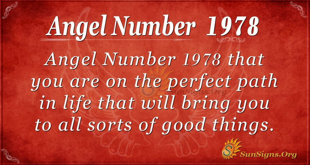 Angel Number 1978