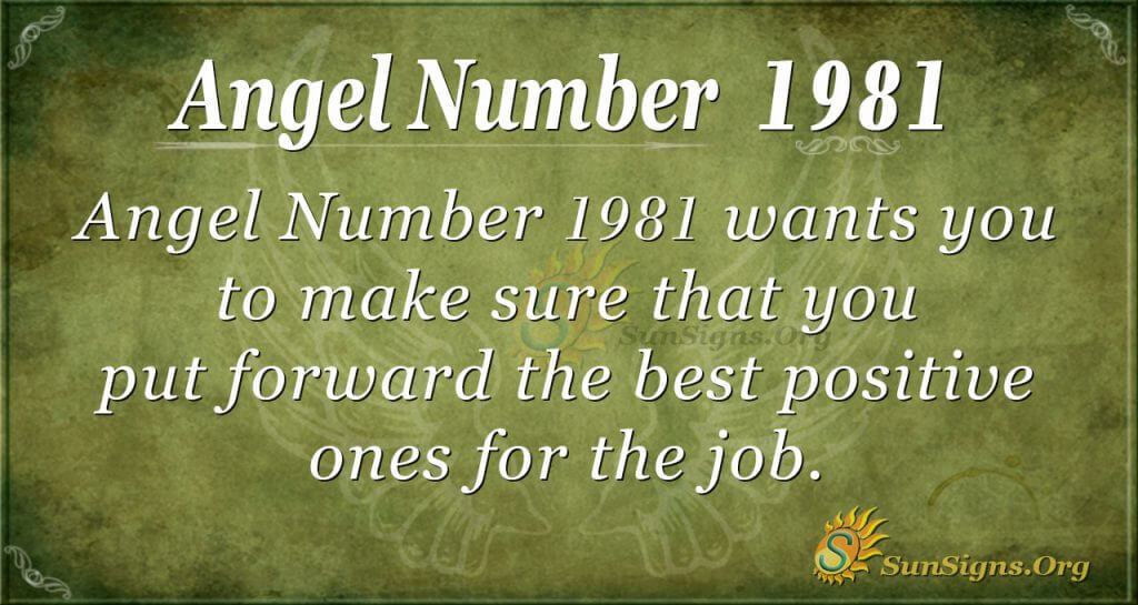 Angel Number 1981