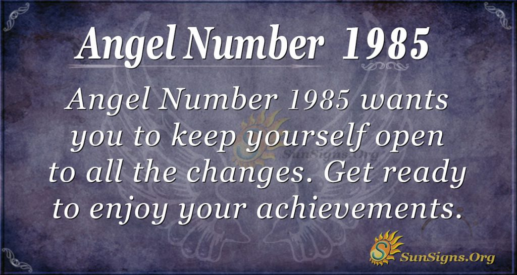 Angel Number 1985