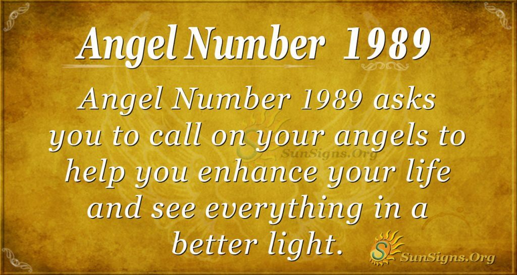 Angel Number 1989
