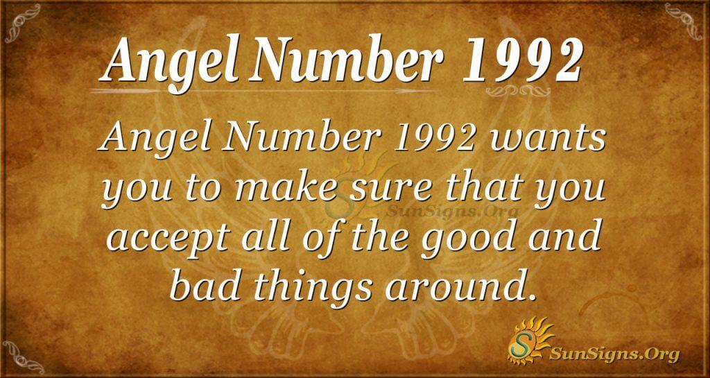 Angel Number 1992