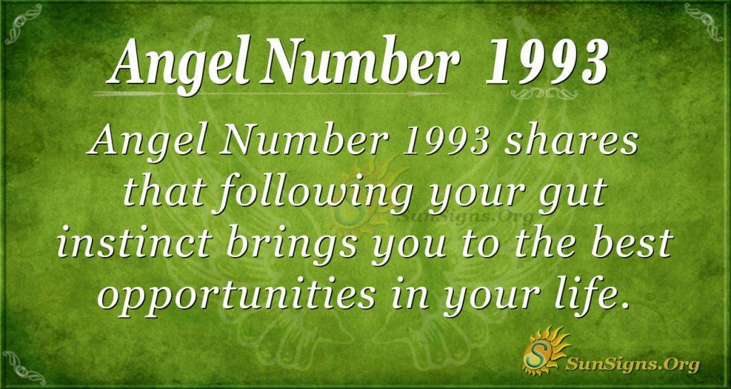 Angel Number 1993